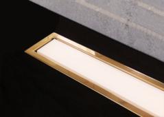 Душевой лоток Pestan Confluo Premium White Glass Line 450 Gold, 13100089