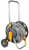 """Тележка для шлангов Hozelock 2489 + шланг 1/2"""" 20 м + коннекторы + наконечник для шланга, серый, желтый, красный"""