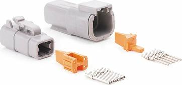 4 контакта, для соединения низковольтных цепей до 7,5А
