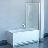 Шторка для ванны Ravak PVS1-80 белый+транспарент