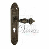 Дверная ручка на планке Venezia Lucrecia PL90 античная бронза CYL