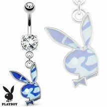 Пирсинг для пупка Кролик в синем камуфляже 1 шт Spikes