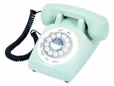 Телефон в стиле ретро голубой 25*30*13 см 98910