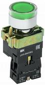 IEK Кнопка управления зеленая LAY5-BW3361 1НО с подсветкой 240В (BBT50-BW-K06)