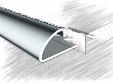 Полукруглый угол для плитки 10мм полированный из нержавеющей стали 270 см