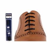 Шнурки Saphir 120см. круглые, тонкие (01 черный)