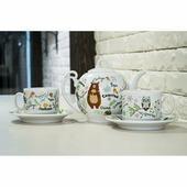 """Набор для чая """"Чудо"""" (5 предметов), фарфор"""