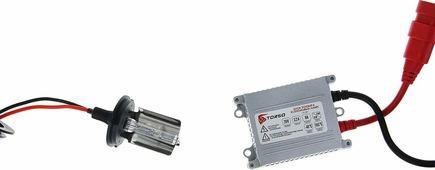 Комплект ксеноновых ламп Torso, блок розжига AC Slim, 35 Вт, 12 В, цоколь H4S-L, 4300 К. 1242242