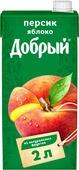 Нектар Добрый Персик Яблоко, 2 л