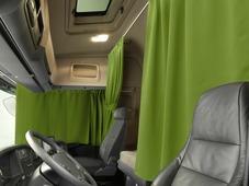Комплект автоштор Эскар Blackout - auto L, зеленый, 2 шторы 240 х 100 см, 2 подхвата