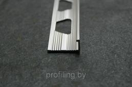 Уголок для плитки L-образный 10мм, серебро глянец 270 см