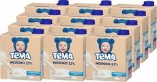 Молоко Тема ультрапастеризованное 3,2%, 12 шт по 500 г