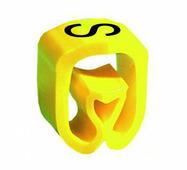 """Маркер закрытого профиля Partex PA-2 на провод 2.5-16.0 мм², символ """"S"""", желтый/черный (диск 250 шт.) {PA-2000..."""