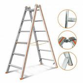 Двухсекционная Лестница-Стремянка Эйфель Комфорт-Профи 206