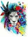 Картина по номерам Цветочный лев (PC4050477)