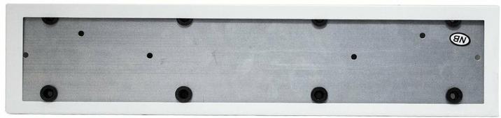 Рамка номерного знака King, белый, металл, 2 шт