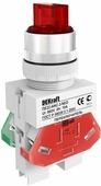 Лампы, кнопки, звонки, переключатели Переключатель на 2 фикс. полож. I-O, стандартная ручка 1НО+1НЗ, ПЕ22-ANC-2-RED DEKraft Schneider Electric