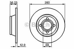 Тормозной диск BOSCH 0986478131