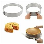 Кулинарная форма для слоеных блюд, круглая, регулируемая, 15-20 см