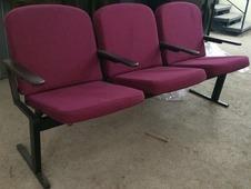 """Кресла для актовых залов Alina СTC SH """"Школьник Плюс"""" (секция 3 места)"""
