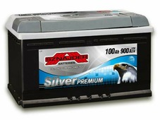 Автомобильный аккумулятор Sznajder Silver Premium (100 A/h), 900A R+