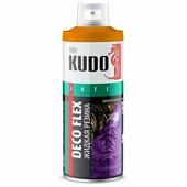 """Жидкая резина KUDO """"DECO FLEX"""", аэрозоль, 520 мл, оранжевый"""