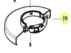 кожух защитный ф125 быстросъем. AG1210E WORTEX S1M-ZP82-125-19