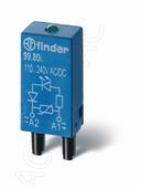 Защитный модуль со светодиодом (6-24B AC/DC) Finder, 9980002459