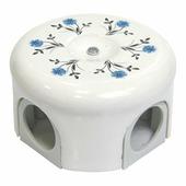Распаячная коробка малая D78 белый с узором васильки 33018 Lindas