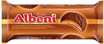 Печенье Ulker Albeni Round в молочном шоколаде с карамелью, 320 г