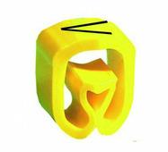 """Маркер закрытого профиля Partex PA-2 на провод 2.5-16.0 мм², символ """"V"""", желтый/черный (пачка 100 шт.) {PA-200..."""