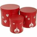 Набор подарочных круглых коробок 3-в-1