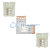 SC41ULESB Ecola LED strip connector комплект L гибкая соед. плата + 2 зажимных разъема 4-х конт. 10 mm