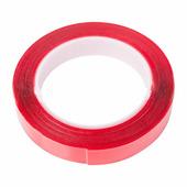 Скотч двухсторонний Rexant, 20 мм х 5 м, прозрачный акрил, защитная пленка красного цвета {09-6520}