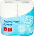 Туалетная бумага для держателя OfficeClean, 249814, белый, 2-слойная, 4 шт