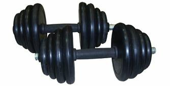 Гантель обрезиненная 10 кг GW-DM-20-1