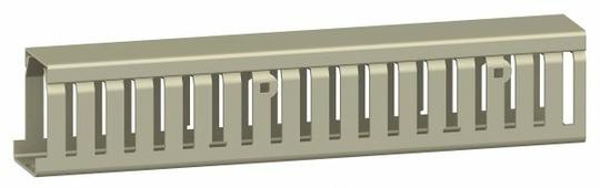 Кабель-канал без крышки 25Х25Х2000 мм (1упак-8 шт.) серый Schneider Electric, AK2GD2525