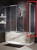 Боковая шторка для ванны Radaway Vesta S 70 хром+фабрик