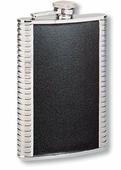 Подарочные фляги Фляга 1406YGB S.Quire 0,18 л, сталь+натуральная кожа, вставка черная