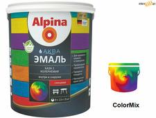 Эмаль Alpina Аква эмаль, База 1 шелковисто-матовая 2,5 л/3,05 кг, акриловая водно-дисперсионная, шт.