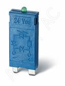 Дополнительное оборудование к реле Модуль варисторный со светодиодом (110-230B) AC/DC Finder