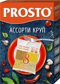 Prosto ассорти круп греча, пшено, пшеничная, перловка в пакетиках для варки, 8 шт по 62,5 г