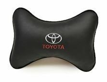 """Подушка на подголовник Auto premium """"Toyota"""", цвет: черный. 37013"""