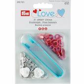 """Кнопки """"Джерси Color"""" латунь 8 мм 21 шт разноцветные Prym Love 390701"""