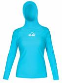 Женская гидромайка с капюшоном и длинными рукавами iQ Uv Shirt Watersport L/s Turquoise
