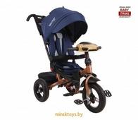 Детский трехколесный велосипед с ручкой Baby Trike Premium ORIGINAL 2019 (Синий)