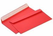Конверт из цветной бумаги С65 (114*229) красный. 100 шт