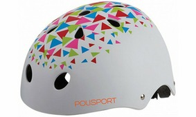 Шлем велосипедный Polisport URBAN RADICAL TRIANGLES белый (4044)