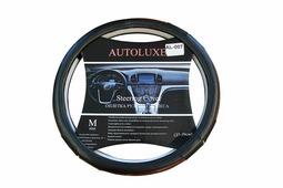 Оплетка для руля AUTOLUXE AL-007, цвет черный, размер М (37-39)