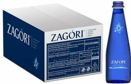 Zagori Вода природная минеральная столовая газированная, 24 шт по 0,33 л стекло